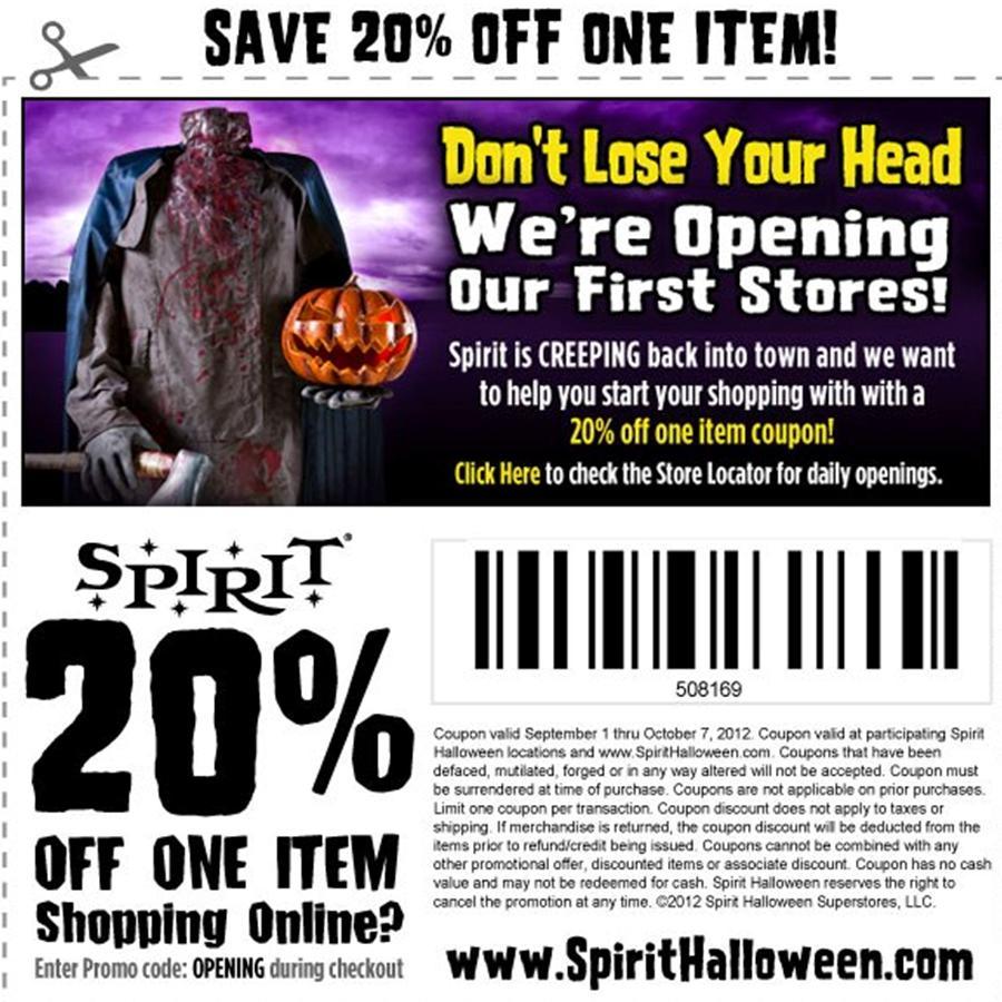 Spirit Halloween Coupon 2011 images