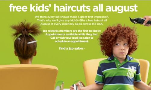 jcpenney free haircuts free haircuts at jcpenney every sunday permanent 2655 | jcpenney haircut