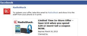 Radio shack coupon