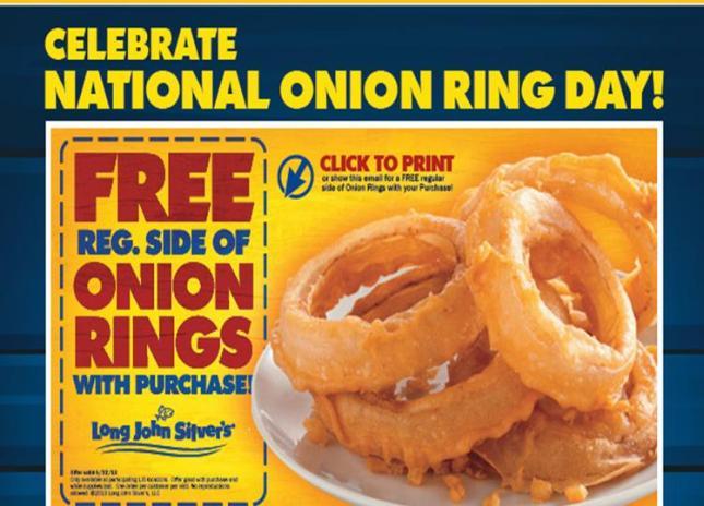 free onion rings
