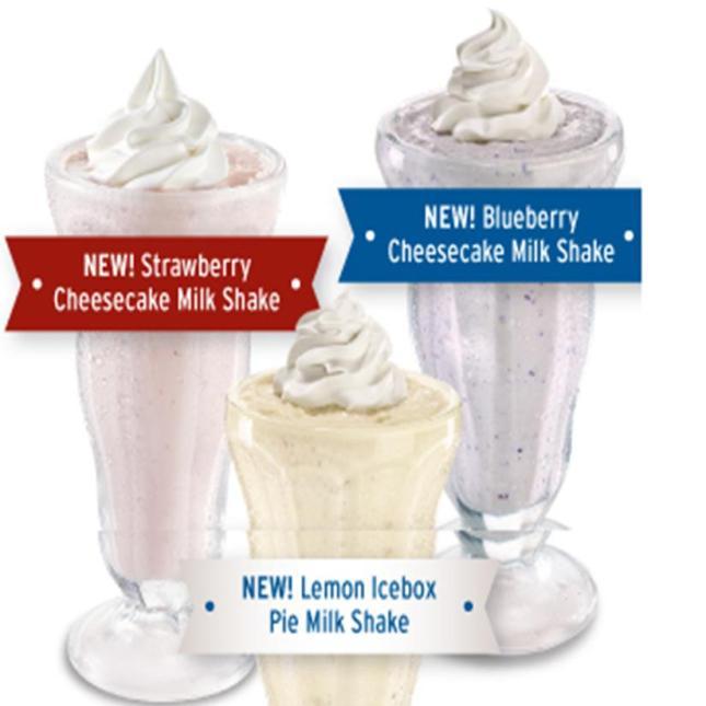 dennys milkshakes